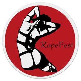 "Коврик для мышки (круглый) ""Shibari RopeFest"" - арт, эротика, шибари"