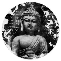 """Коврик для мышки (круглый) """"Будда (Письмена)"""" - философия, buddha, будда, буддизм, духовность"""