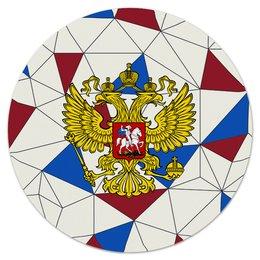 """Коврик для мышки (круглый) """"Без названия"""" - русский, россия, герб, орел, флаг"""