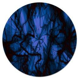 """Коврик для мышки (круглый) """"Краски"""" - узор, космос, краски, абстракция, молния"""