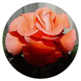 """Коврик для мышки (круглый) """"Роза."""" - цветы, цветок, роза, нежность, розы"""