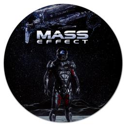 """Коврик для мышки (круглый) """"Mass Effect"""" - mass effect, компьютерные игры, геймерские, масс эффект, n7"""