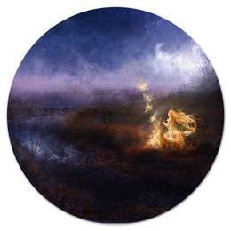 """Коврик для мышки (круглый) """"Огонь"""" - пламя, волшебство"""