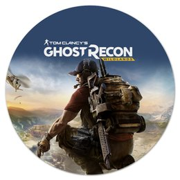 "Коврик для мышки (круглый) ""Tom Clancys Ghost Recon Wildlands"" - tom clancys ghost recon wildlands, ghost recon, tom clancy, игры, для геймеров"