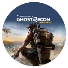 """Коврик для мышки (круглый) """"Tom Clancys Ghost Recon Wildlands"""" - игры, для геймеров, ghost recon, tom clancys ghost recon wildlands, tom clancy"""