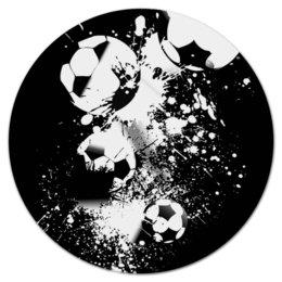 """Коврик для мышки (круглый) """"Мячики"""" - футбол, спорт, мячи, огонь, игры"""
