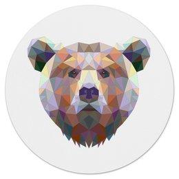 """Коврик для мышки (круглый) """"Русский медведь"""" - bear, медведь, русский медведь"""