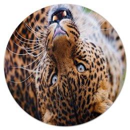 """Коврик для мышки (круглый) """"Леопард"""" - хищник, животные, дикий, леопард, зверь"""