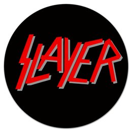 "Коврик для мышки (круглый) ""SLAYER "" - музыка, рок, металл, slayer, thrash metal"