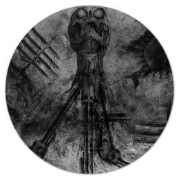 """Коврик для мышки (круглый) """"Биомеханика"""" - арт, ужас, тёмный, биомеханика"""