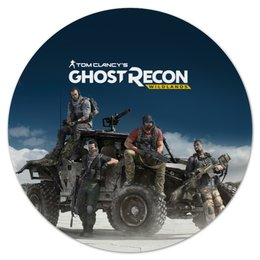 "Коврик для мышки (круглый) ""Tom Clancys Ghost Recon Wildlands"" - tom clancy, tom clancys ghost recon wildlands, ghost recon, игры, для геймеров"