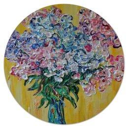 """Коврик для мышки (круглый) """"Флоксы"""" - лето, цветы, summer, счастье, флокс, phlox"""