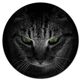 """Коврик для мышки (круглый) """"КОШКИ. МАГИЯ КРАСОТЫ"""" - кошка, стиль, красота, зеленые глаза, арт фэнтези"""