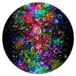 """Коврик для мышки (круглый) """"Психоделика"""" - психоделика, пузырьки, цвет, абстракция"""