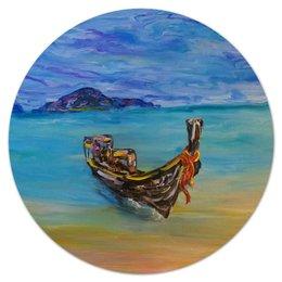 "Коврик для мышки (круглый) ""Тайланд"" - романтика, море, sea, остров, paradise, beautiful, thailand"