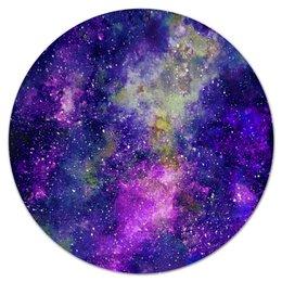 """Коврик для мышки (круглый) """"Фиолетовый космос"""" - космос, космический дизайн, space, cosmos design, звезды"""