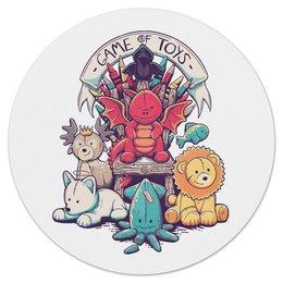 """Коврик для мышки (круглый) """"Game of toys"""" - животные, сериал, игра престолов, game of thrones"""