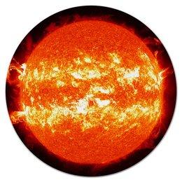 """Коврик для мышки (круглый) """"солнце"""" - звезда, солнце, космос, вселенная"""
