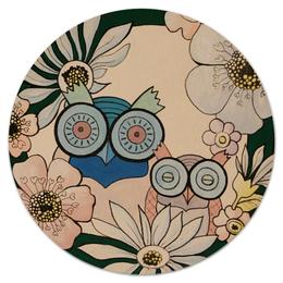 """Коврик для мышки (круглый) """"Пара Совы"""" - семья, природа, пара, сова, день влюбленных"""