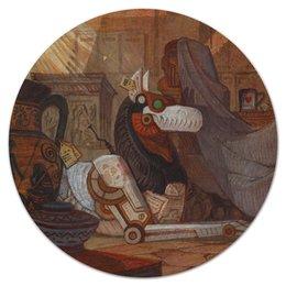 """Коврик для мышки (круглый) """"Коллекция"""" - фантастика, робот, хоррор, волк, амфора"""