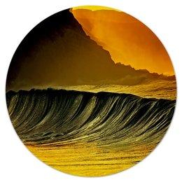 """Коврик для мышки (круглый) """"Волны моря"""" - море, краски, природа, пейзаж, волны"""
