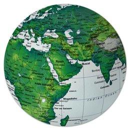 """Коврик для мышки (круглый) """"Планета Земля"""" - планета, страны, города, earth, земля, планета земля, города и страны"""