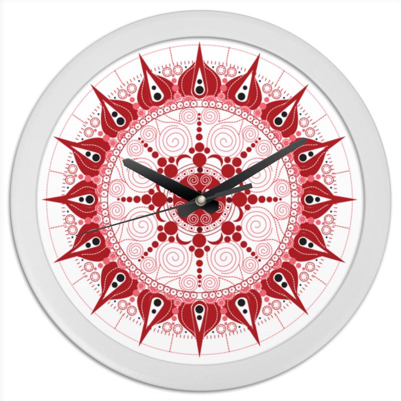 Часы круглые из пластика Printio Мандала страсти конфеты круглые с ромом купить в иркутске