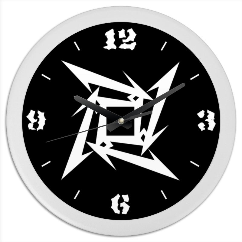 Часы круглые из пластика Printio «логотип metallica» metallica metallica load