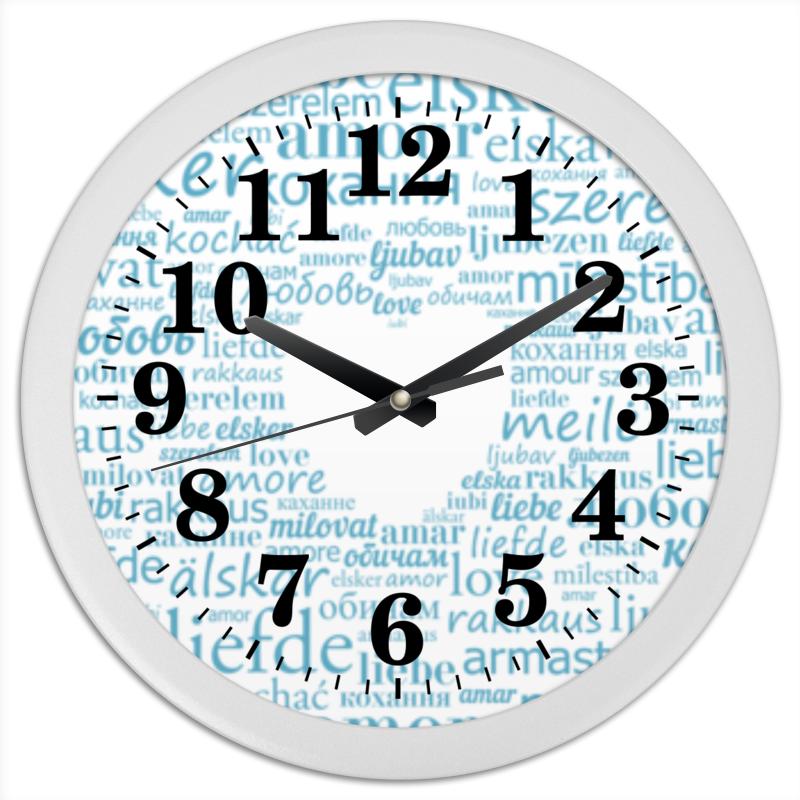 Часы круглые из пластика Printio Влюблённые часы круглые из пластика printio котенок в кружке