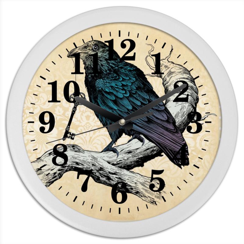 Часы круглые из пластика Printio Птица ворон aknildress ворона 2
