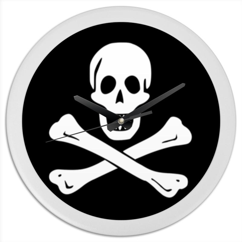 Часы круглые из пластика Printio весёлый роджер - jolly roger плакат a2 42x59 printio весёлый роджер jolly roger