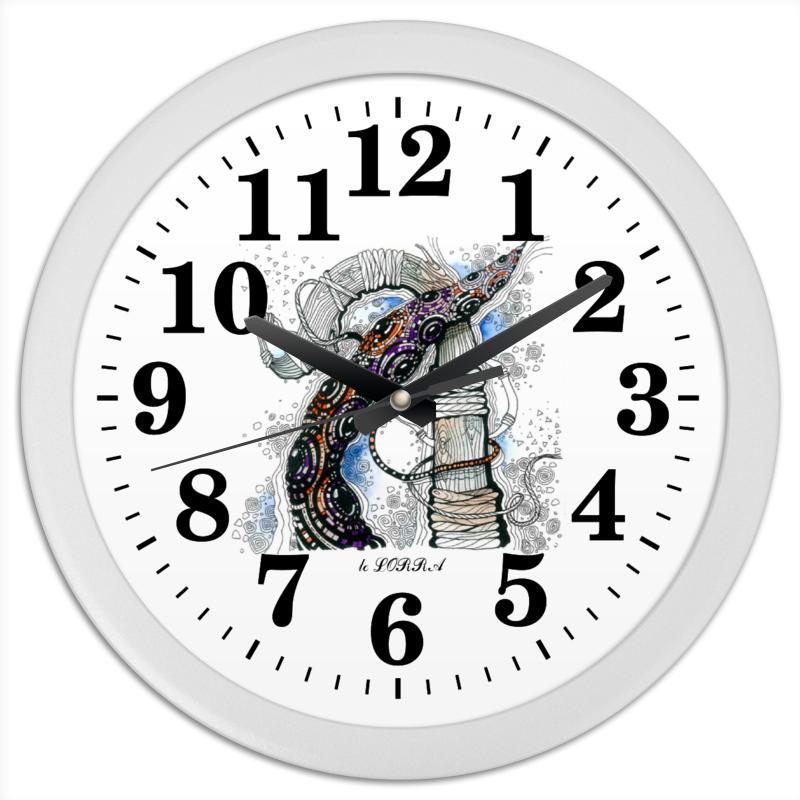 Часы круглые из пластика Printio пересечение авторская графика слайд 40х30 автор сергей лоцманов