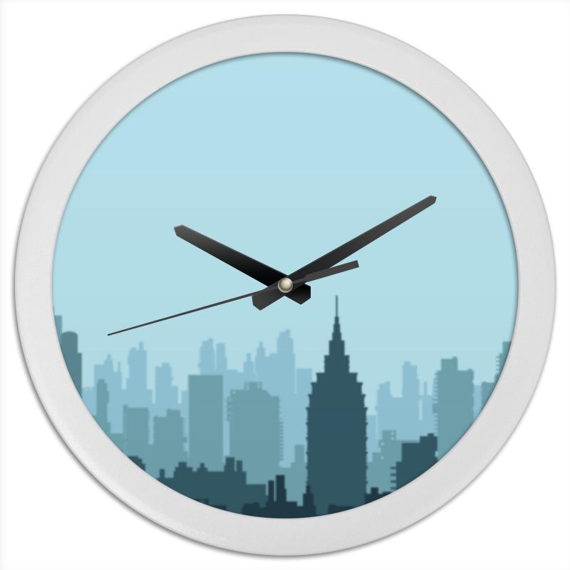 Часы круглые из пластика Printio Город