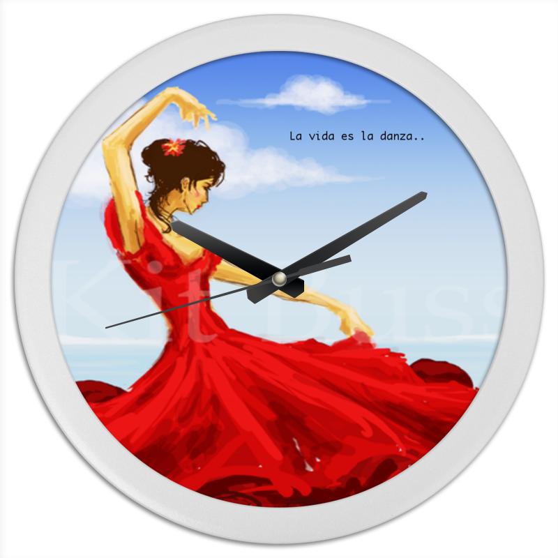 Часы круглые из пластика Printio фламенко часы круглые из пластика printio олень