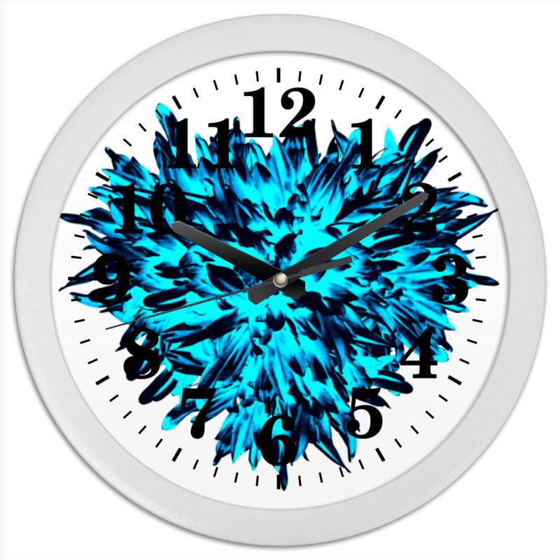 Часы круглые из пластика Printio Ледяной синий и и лажечников ледяной дом