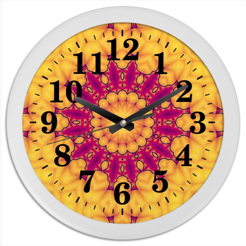 Часы круглые из пластика Printio Helicologie цена