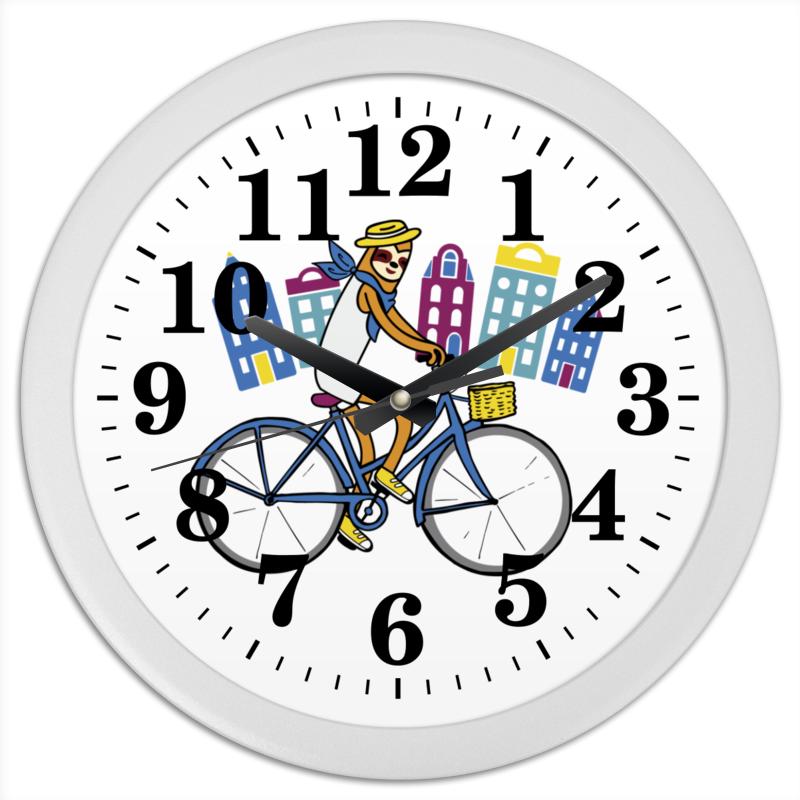 Часы круглые из пластика Printio Велик как продать велик в сампе
