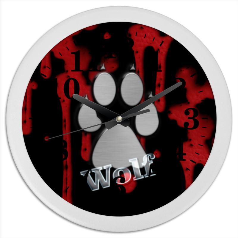 Часы круглые из пластика Printio Лапа волка часы круглые из пластика printio серый волк