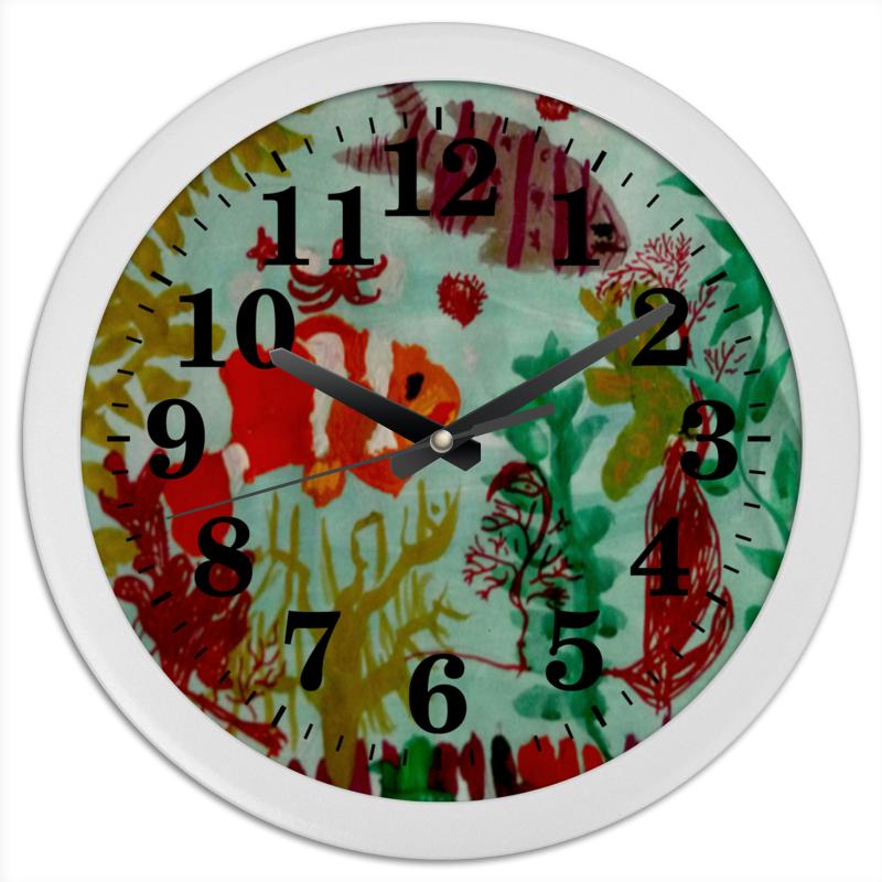 Часы круглые из пластика Printio Рыбки интернет магазин рыбки в аквариуме