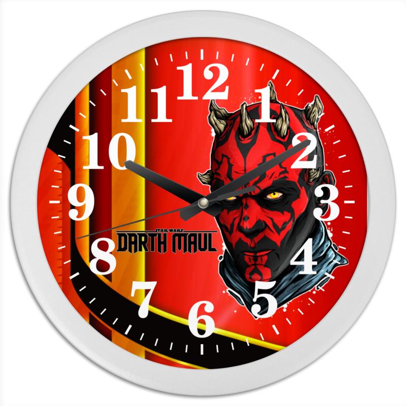 Часы круглые из пластика Printio Darth maul (starwars) часы круглые из пластика printio r2d2 starwars