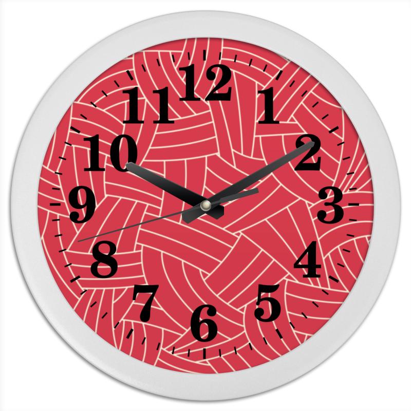 Часы круглые из пластика Printio Красная абстракция часы круглые из пластика printio путаница абстракция