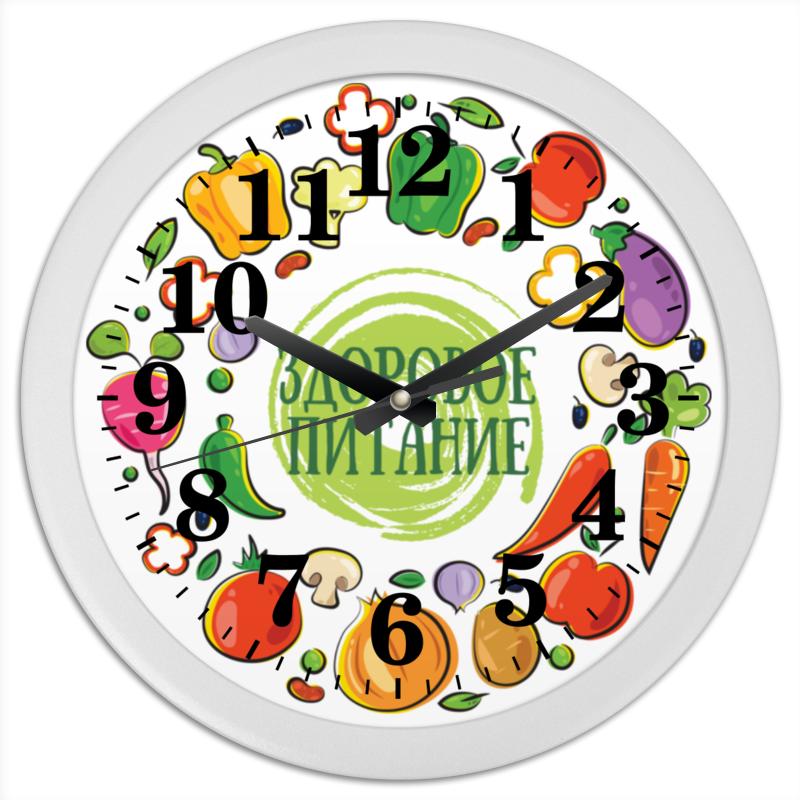 Часы круглые из пластика Printio Здоровое питание линиза жалпанова кефирная и кисломолочная диеты похудение омоложение здоровое питание