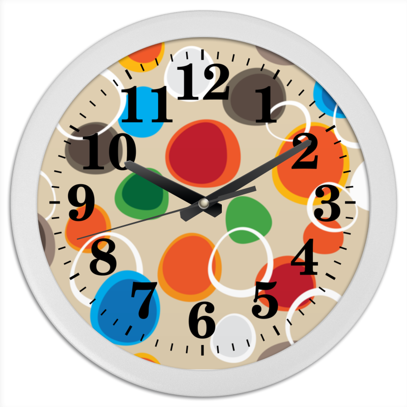 Часы круглые из пластика Printio Цветная абстракция часы круглые из пластика printio путаница абстракция