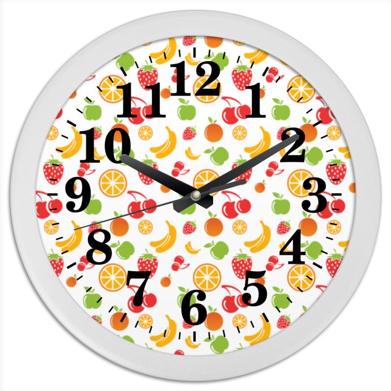 Часы круглые из пластика Printio Фруктовые пудовъ картофель сушеный хлопья 90 г