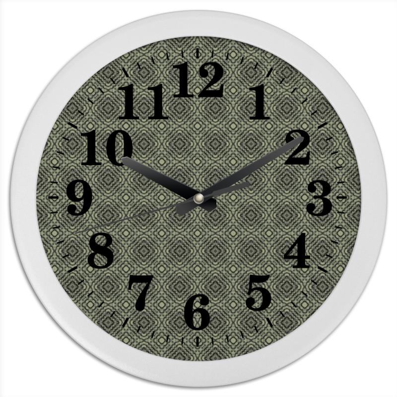 Часы круглые из пластика Printio Fluxx масло