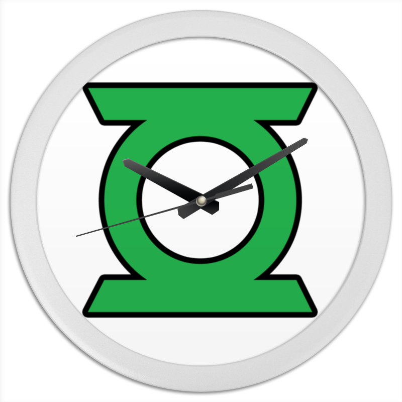 Часы круглые из пластика Printio Green lantern/зеленый фонарь
