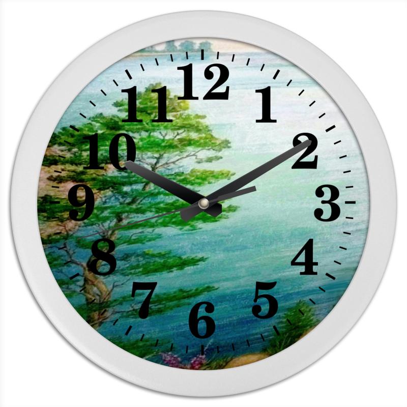 Часы круглые из пластика Printio Песчаный берег брошь из кошачьего глаза полимерной глины хрусталя нефрита и пластика яркое лето