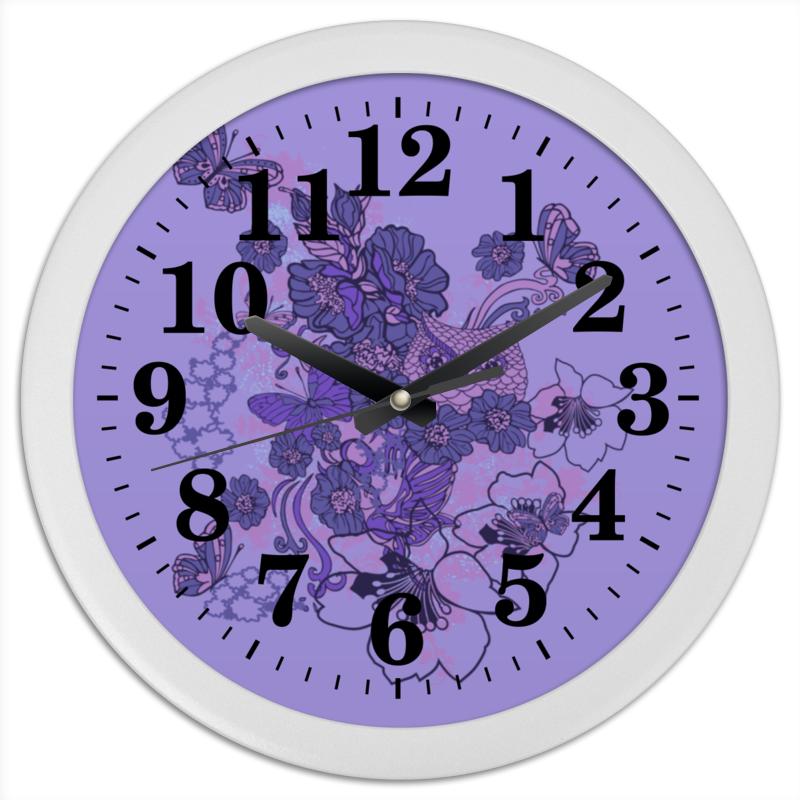 Часы круглые из пластика Printio Сова в цветах чехол для ноутбука 12 printio сова в цветах