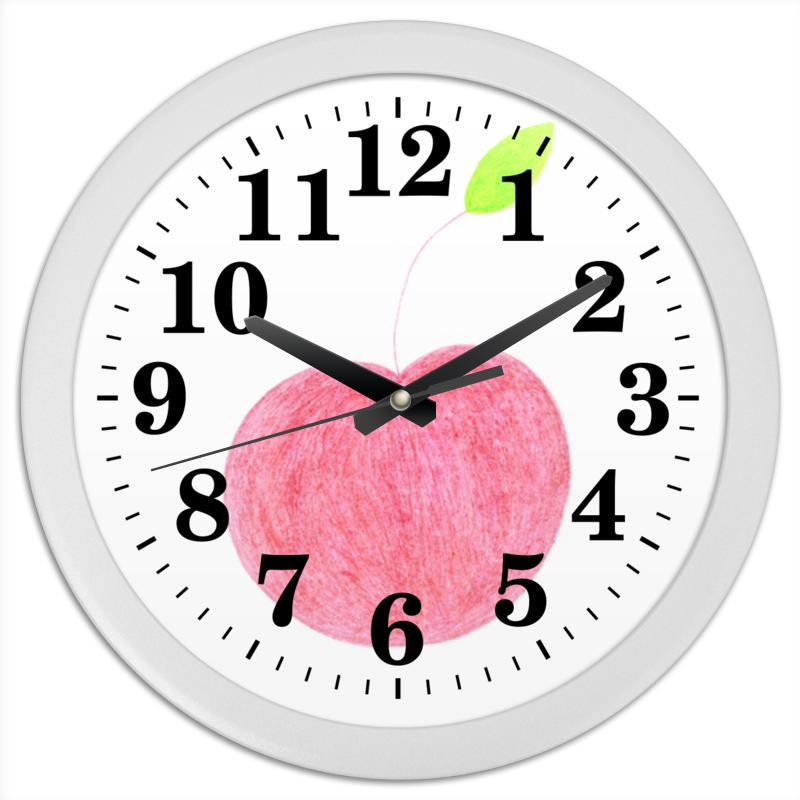 Часы круглые из пластика Printio Red apple часы ежик c листочком mitya veselkov часы ежик c листочком