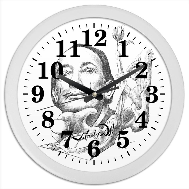 Часы круглые из пластика Printio Salvador dali